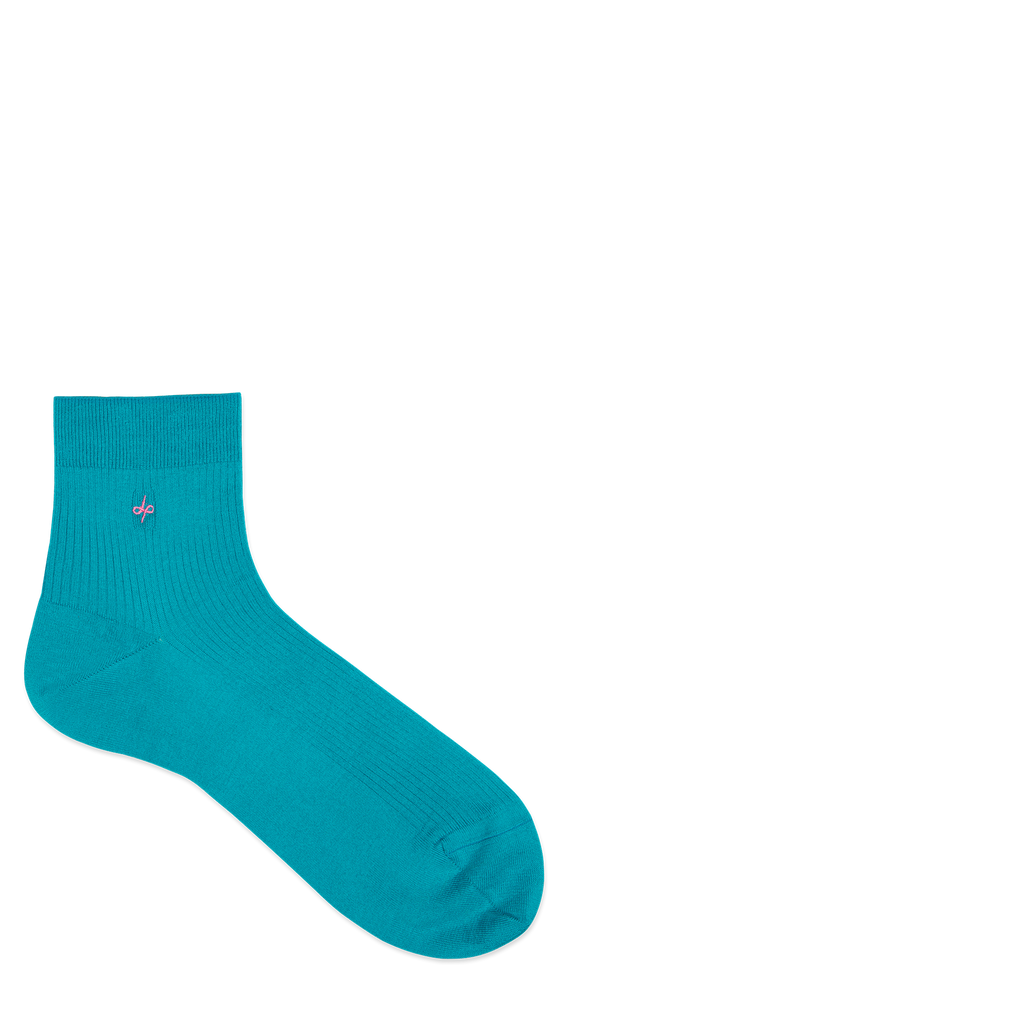 Dueple's Ankle independent peacock Colored Left Sock