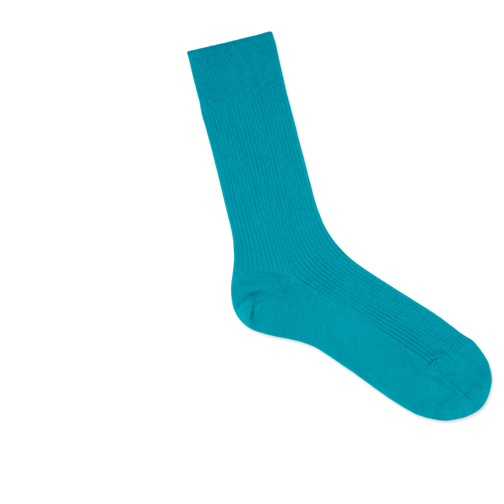 Dueple's Independent peacock Colored Right Sock