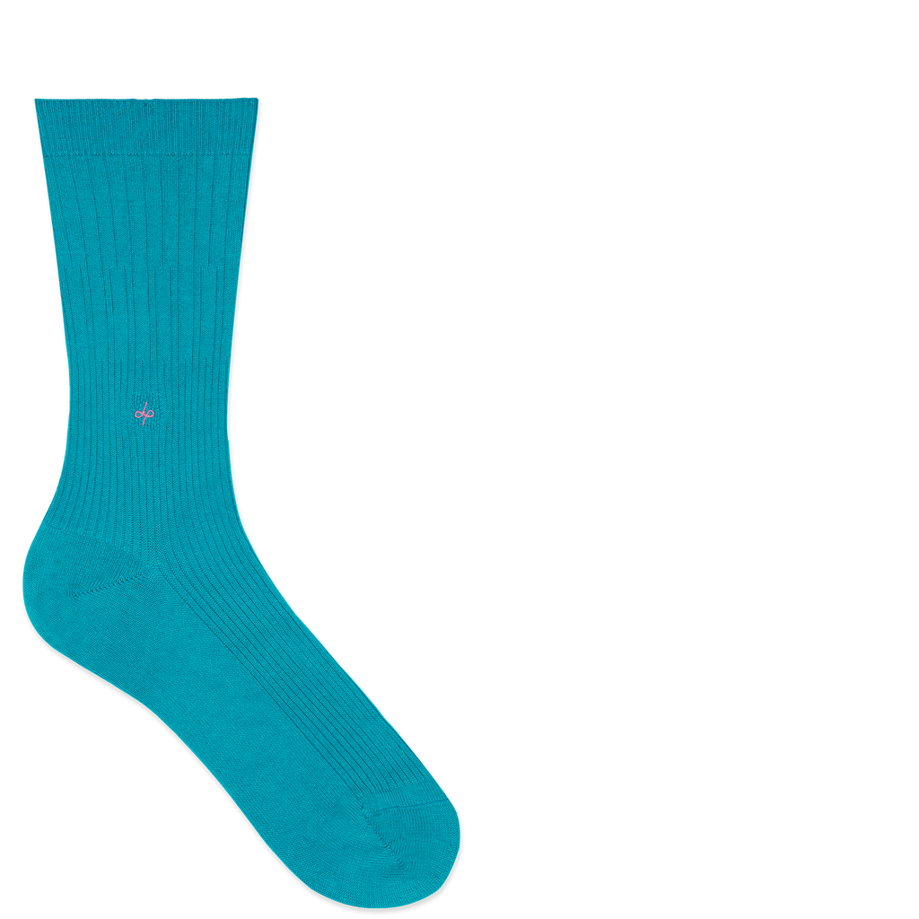 Dueple's Independent peacock swiit Colored Left Sock