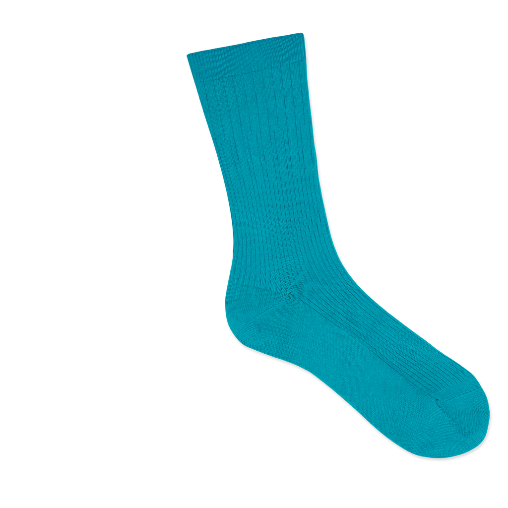 Dueple's Independent peacock swiit Colored Right Sock