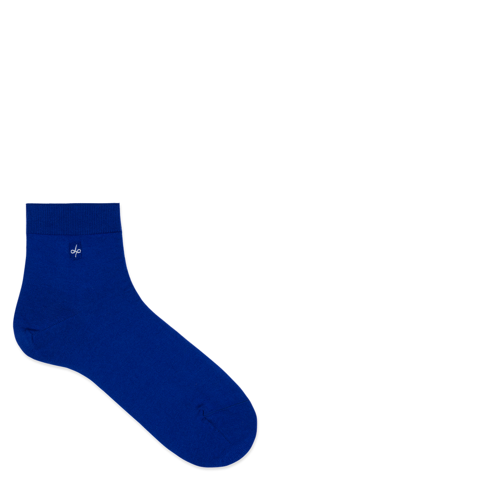Dueple's Ankle blue royal Colored Left Sock