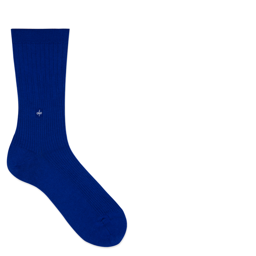 Dueple's Blue royal swiit Colored Left Sock