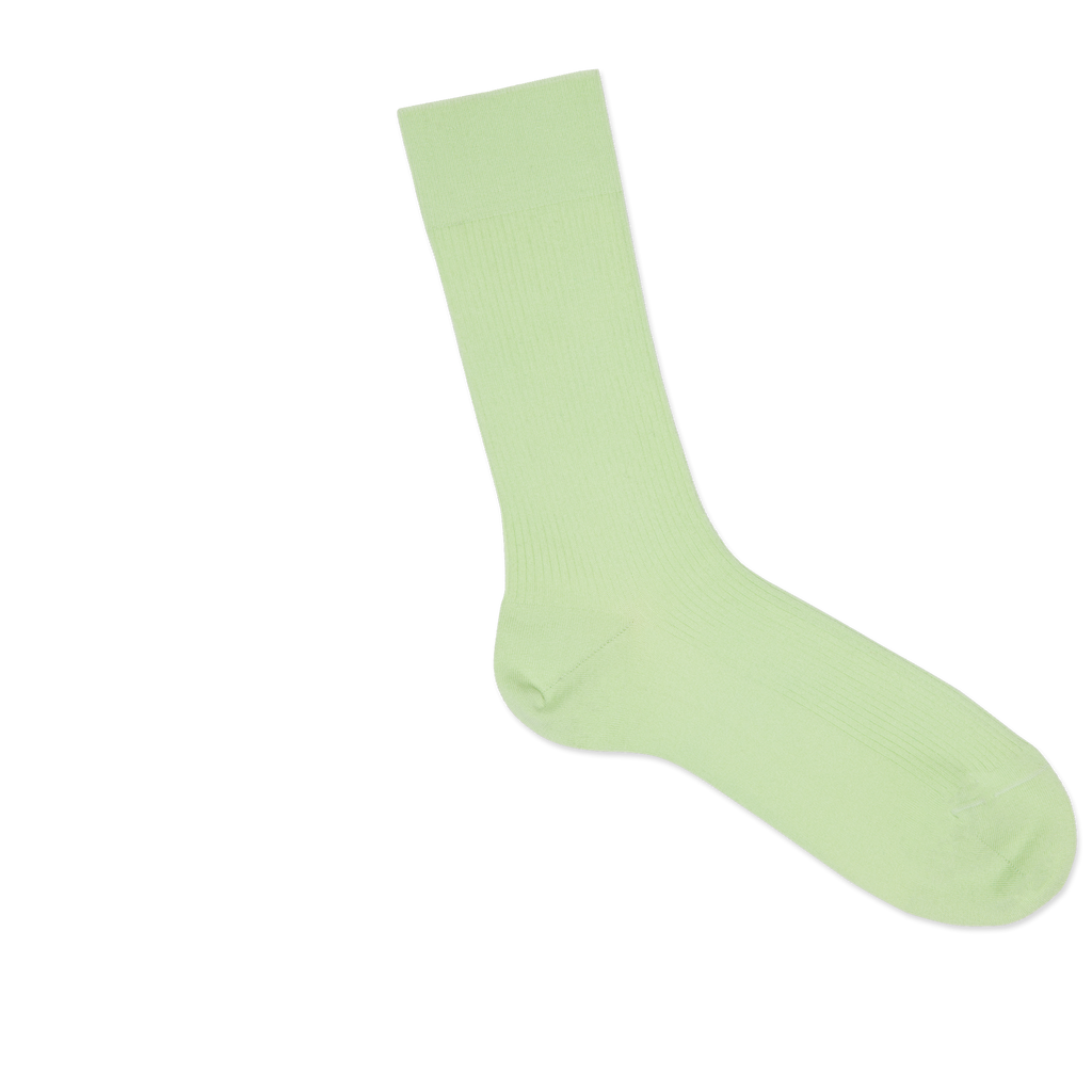 Dueple's Minty pears Colored Right Sock