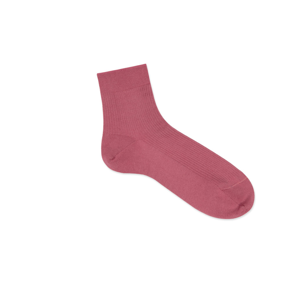 Dueple's Ankle pink smoke Colored Right Sock