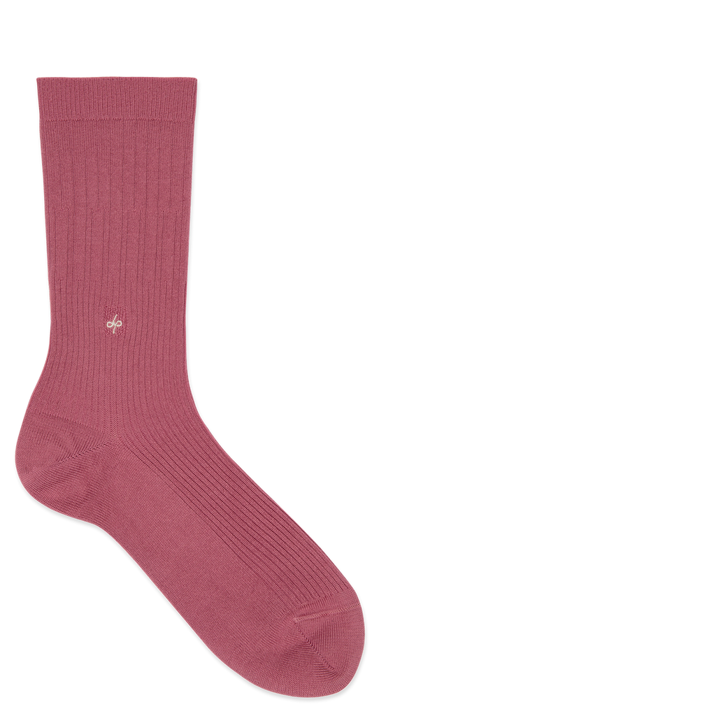 Dueple's Pink smoke swiit Colored Left Sock