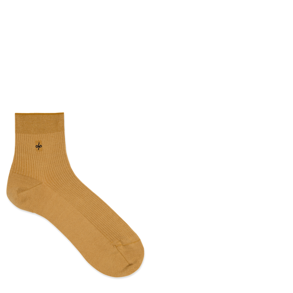 Dueple's Ankle golden Colored Left Sock