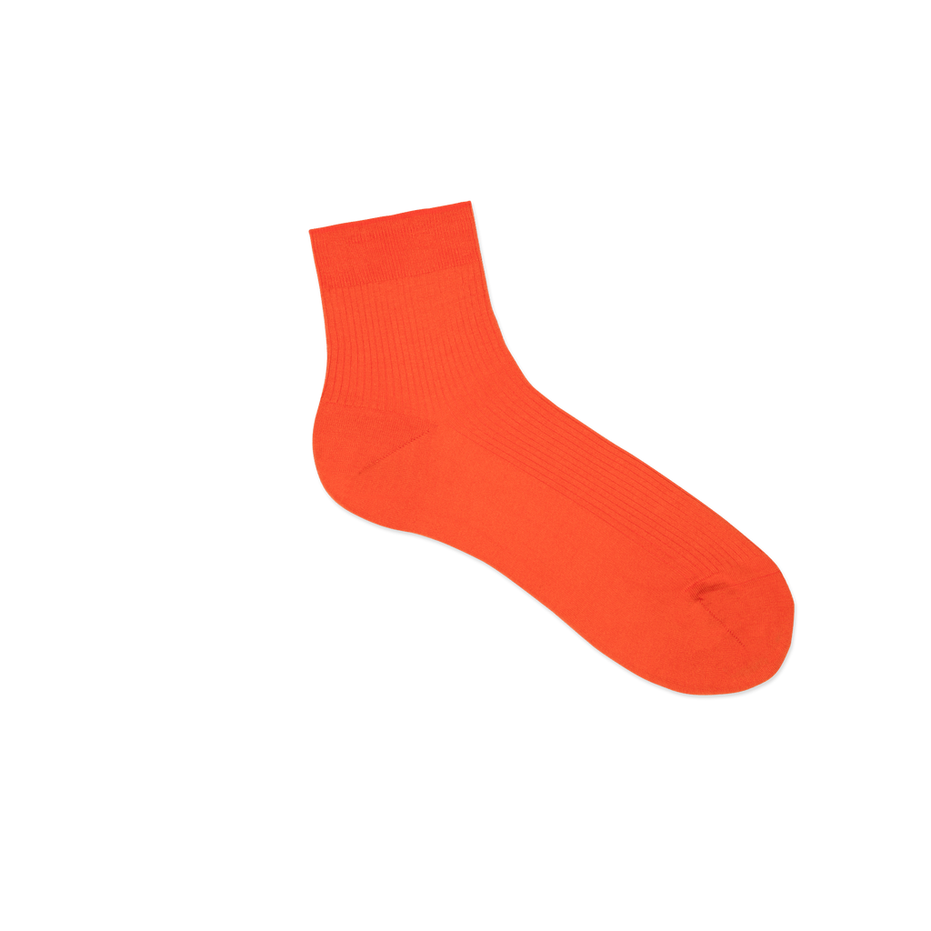Dueple's Ankle orange Colored Right Sock