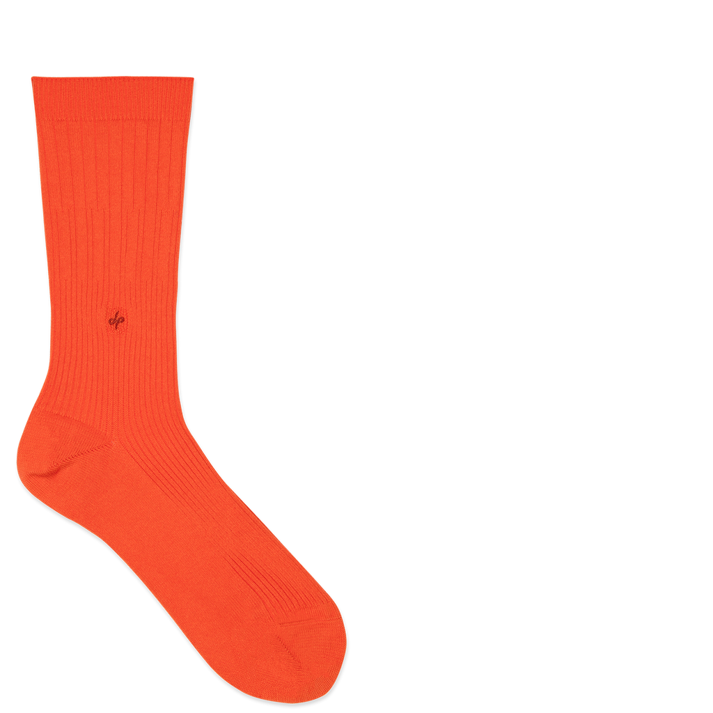 Dueple's Orange swiit Colored Left Sock