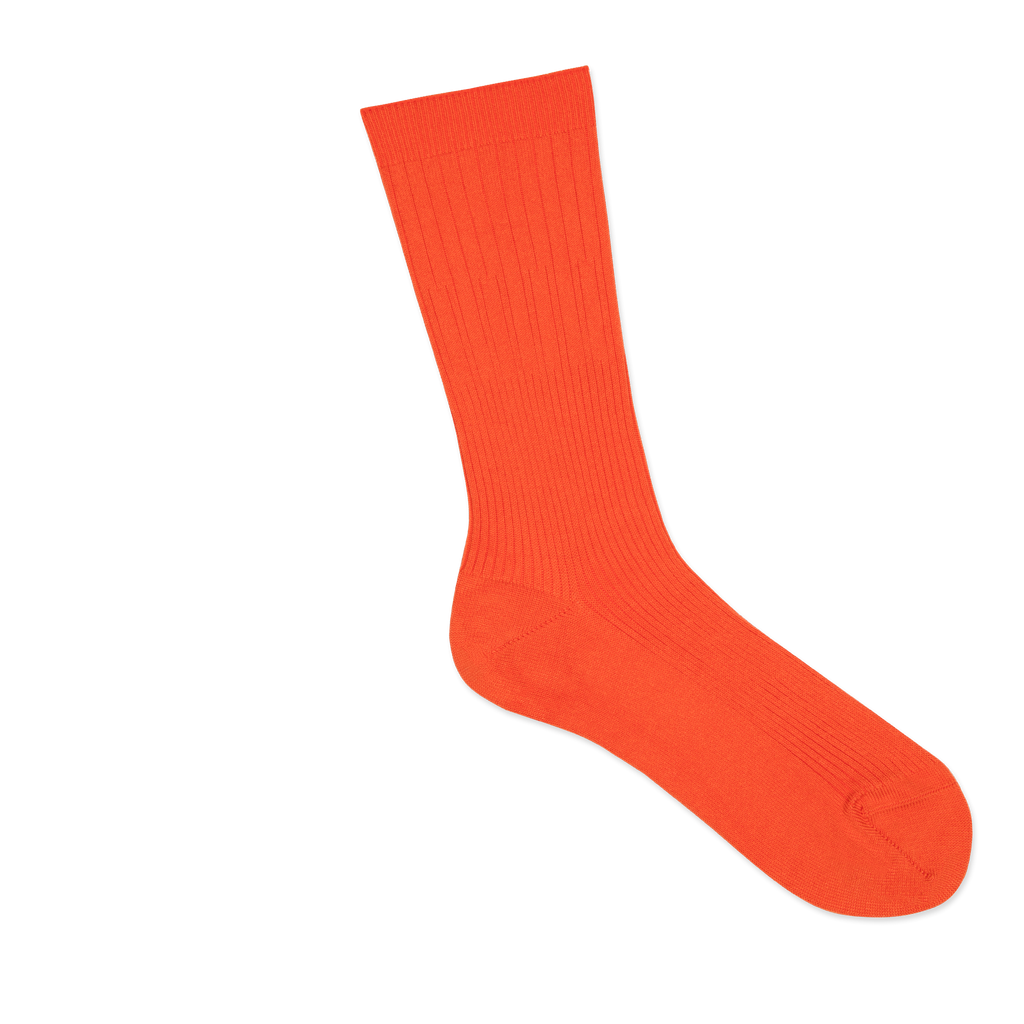 Dueple's Orange swiit Colored Right Sock
