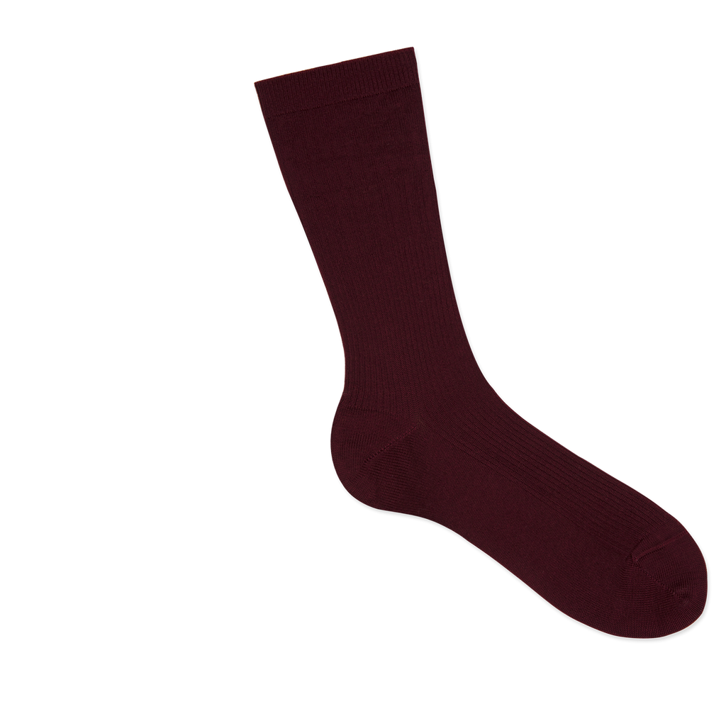 Dueple's Burgundy swiit Colored Right Sock