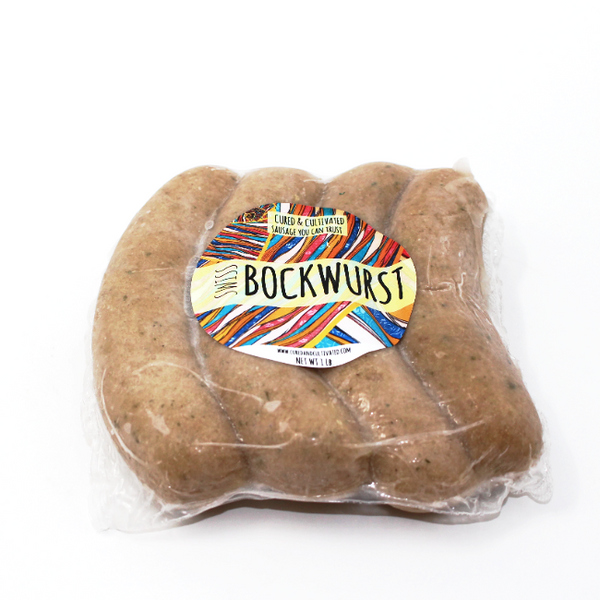 Swiss Bockwurst, 15 oz - Cured and Cultivated