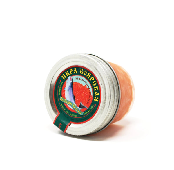 Boyarskaya Salmon Red Caviar, 4 oz - Cured and Cultivated