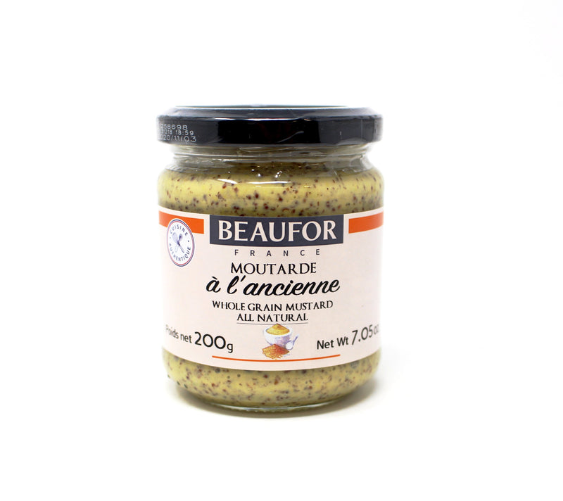 Beaufor Whole Grain Mustard, 7 oz - Cured and Cultivated