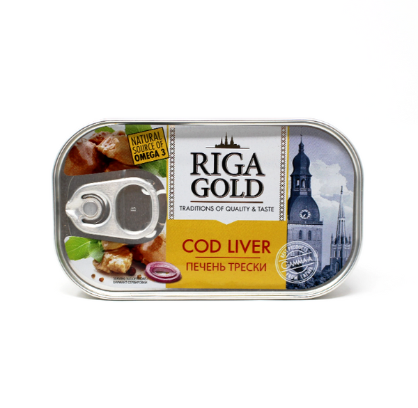 Riga Gold Cod Liver, 4.27oz - Cured and Cultivated