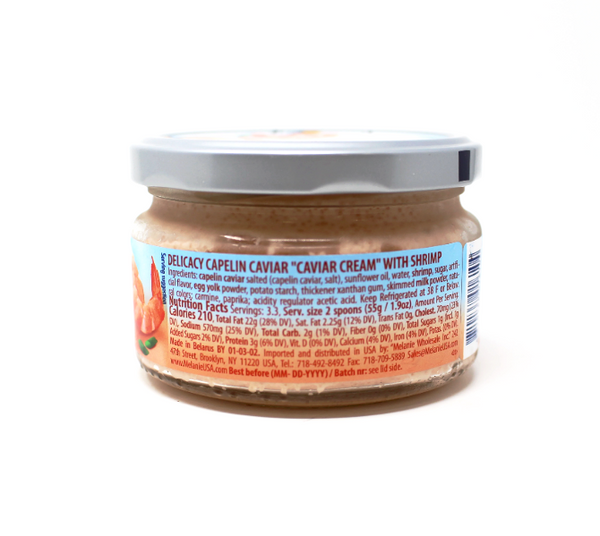 Santa Bremor Caviar Cream - Shrimps, 6.35 oz - Cured and Cultivated