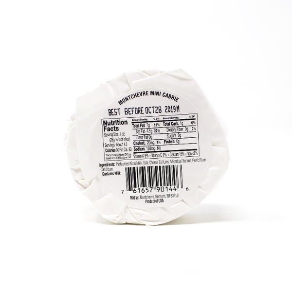 Montchevre Mini Goat Brie, 4.4 oz - Cured and Cultivated