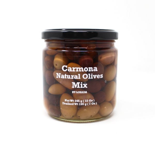 Carmona Natural Olives Mix, 7 oz - Cured and Cultivated