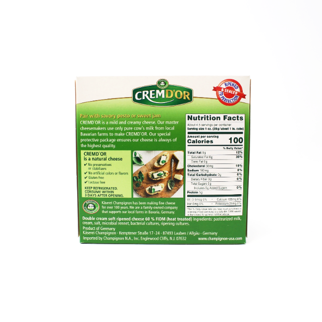 Cremd'Or, 4.4 oz Lactose free cheese