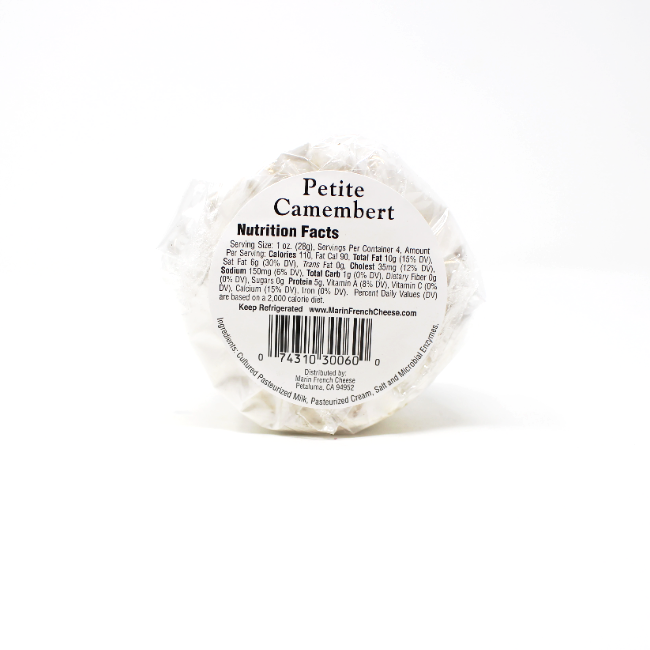 Petite Camembert, 4 oz - Cured and Cultivated