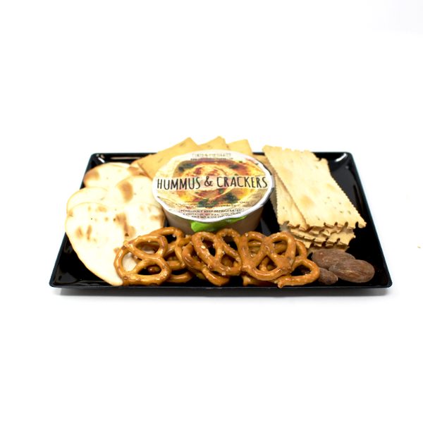 Hummus and Crackers - Cured and Cultivated