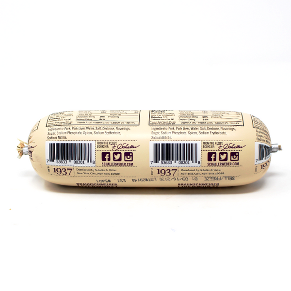 Braunschweiger liverwurst by Schaller & Weber, - Cured and Cultivated