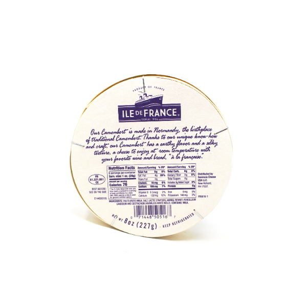 Camembert Ile De France, 8 oz - Cured and Cultivated