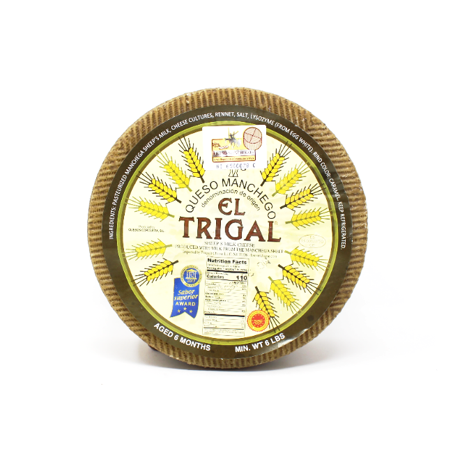 Manchego Cheese by El Trigal Aged 6 Month - Cured and Cultivated