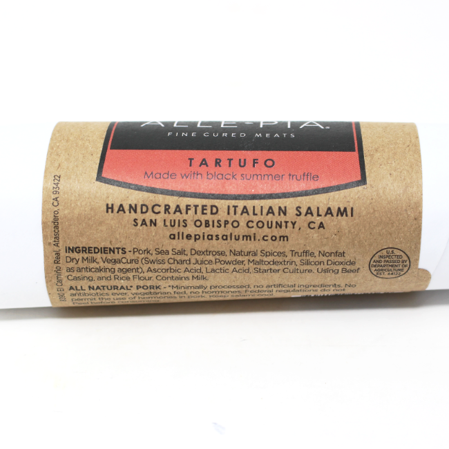 Tartufo Italian Salami Alle-pia - Cured and Cultivated