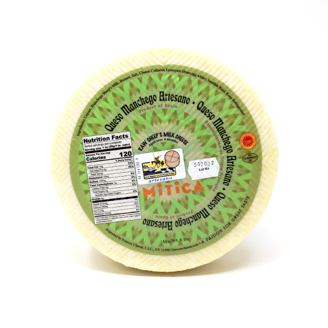 Manchego Cheese by Mitica, Aged 4 month - Cured and Cultivated
