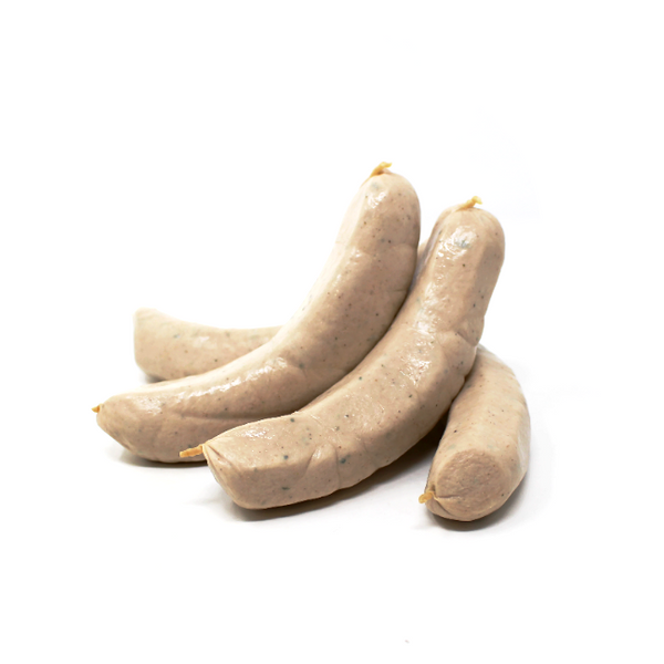 German Swiss Bockwurst Continental Sausage - Cured and Cultivated
