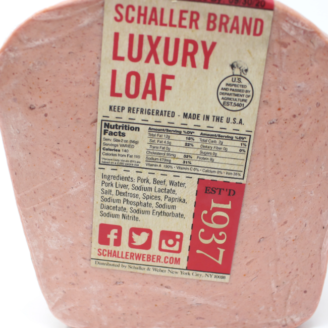 German Leberkase Schaller Brand Luxury Loaf - Cured and Cultivated