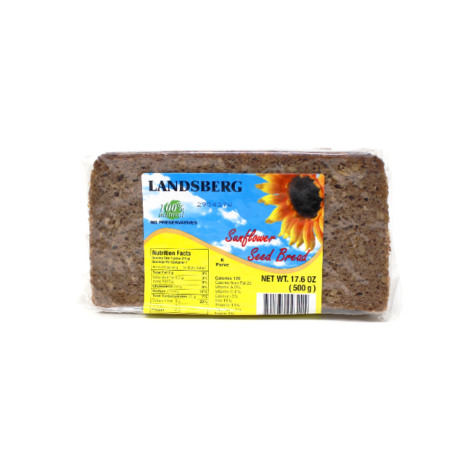 German Sunflower Pumpernickel Bread, 17.6 oz - Cured and Cultivated