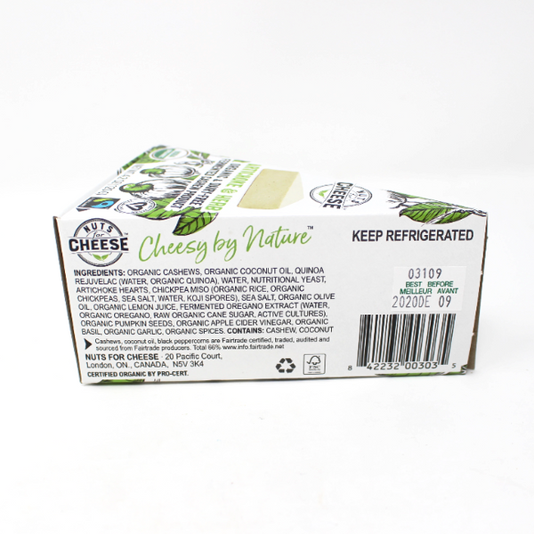 Nuts for Cheese Vegan Cheese Artichoke and Herb, 4.2 oz - Cured and Cultivated