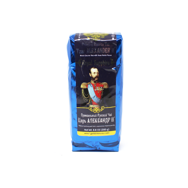 Tzar Alexander black Ceylon tea with Rose Petal flavor, 8.8 oz. - Cured and Cultivated