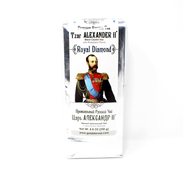 Tzar Alexander black tea with Raspberry, 8.8 oz. - Cured and Cultivated