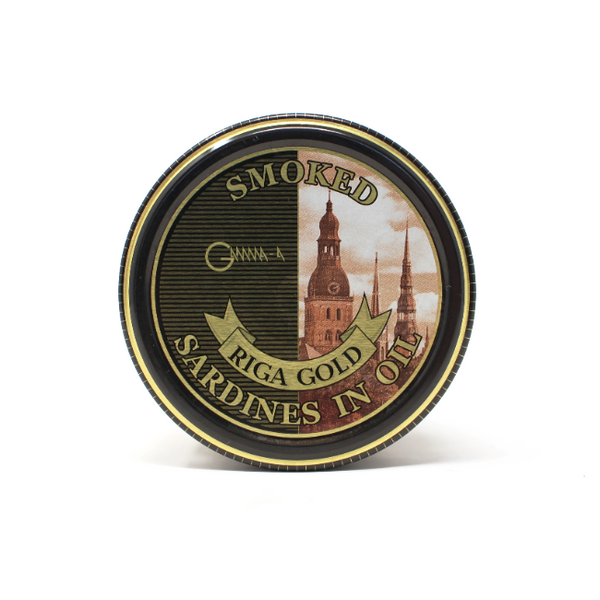 Riga Gold Smoked Sardines in Oil, 9.5oz - Cured and Cultivated