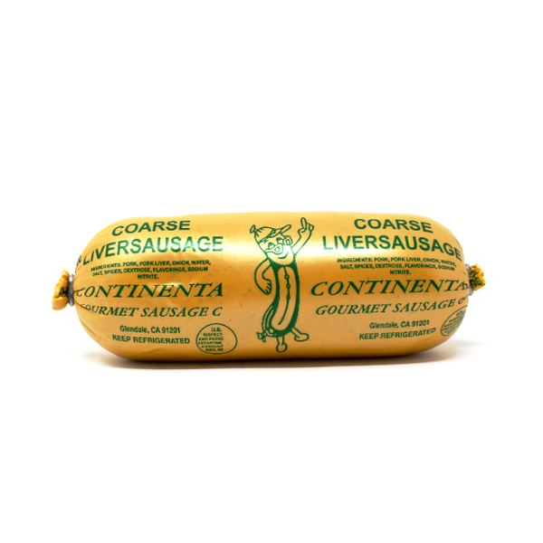 Liverwurst Coarse Continental Sausage , 8 oz - Cured and Cultivated