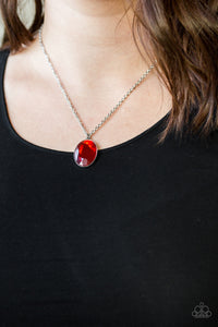 Paparazzi Jewelry Necklace Definitely Duchess Red