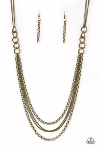 Paparazzi Jewelry Necklace Mechanical Mayhem Brass