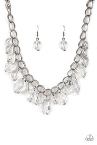 Paparazzi Jewelry Necklace Gorgeously Globtrotter White