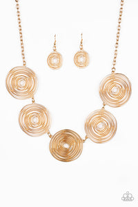 Paparazzi Jewelry Necklace SOL Mates Gold