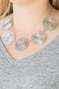Paparazzi Jewelry Necklace SOL-Mates Silver