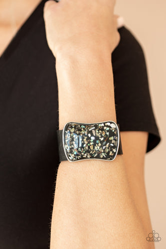 Paparazzi Jewelry Bracelet Twinkle Twinkle Little ROCK STAR - Black