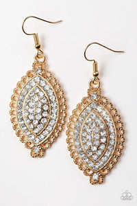 Paparazzi Jewelry Earrings Pretty Prestigious Gold