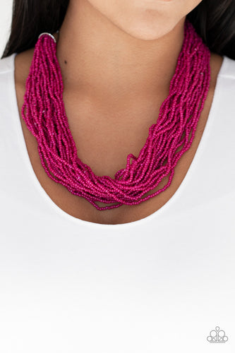 Paparazzi Jewelry Necklace The Show Must CONGO On! - Pink