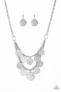 Paparazzi Jewelry Necklace Work Every CHIME Silver