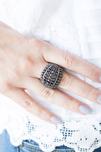 Paparazzi Jewelry Ring Up in Armor Black
