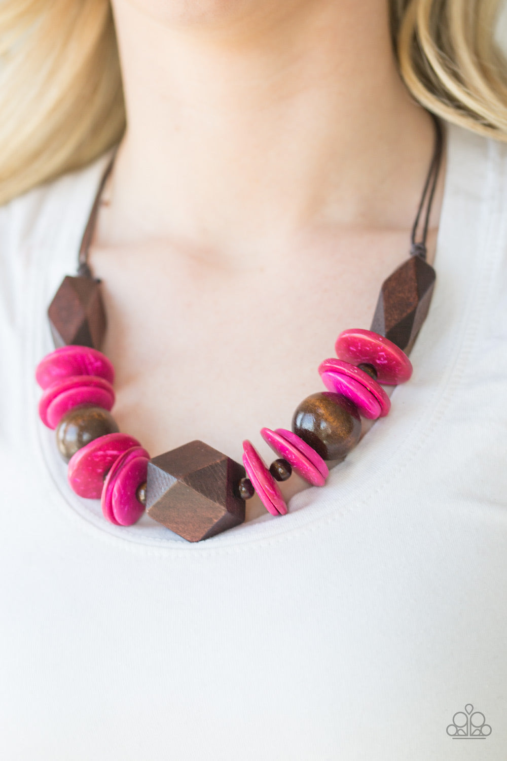 Paparazzi Jewelry Wooden Pacific Paradise Pink