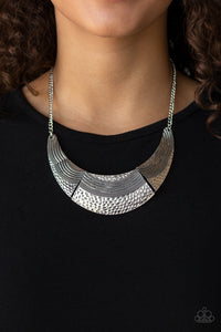 Paparazzi Jewelry Necklace Utterly Untamable - Silver