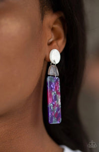 Paparazzi Jewelry Earrings HAUTE On Their Heels - Purple